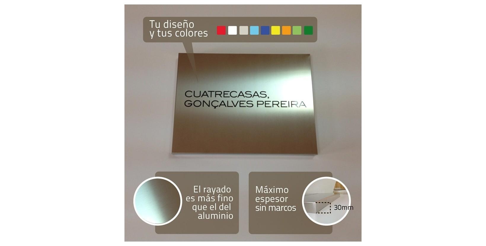 Placa de acero personalizada