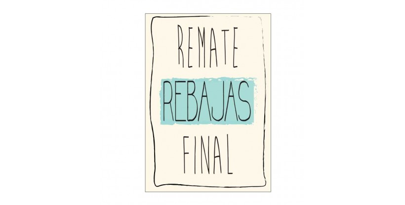 Letrero Remate Final Vintage Beige