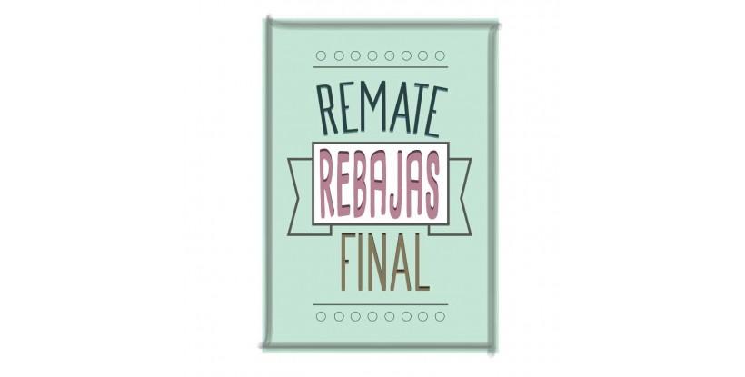 Letrero Remate Final Vintage Pistacho