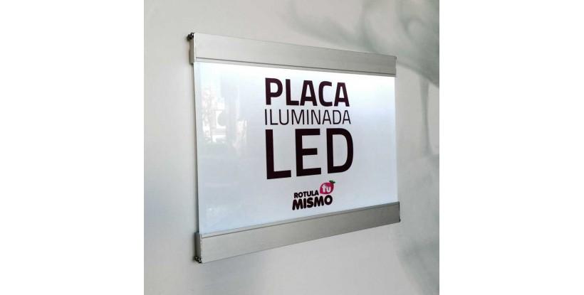 Placa de metacrilato iluminación led