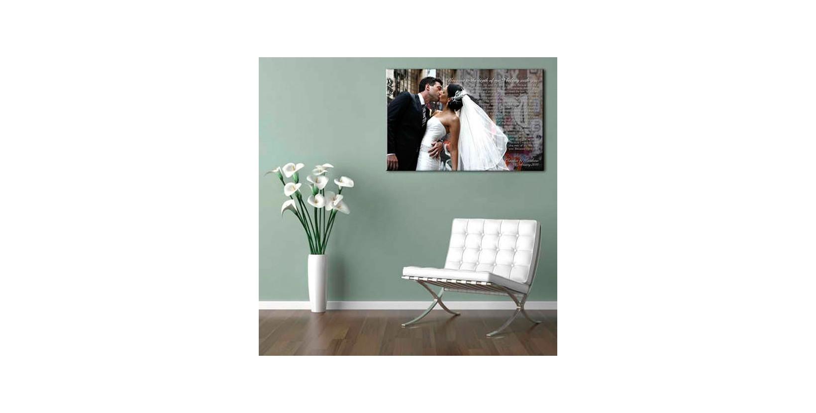Foto lienzo boda cuadros personalizados para parejas - Cuadros fotos personalizados ...