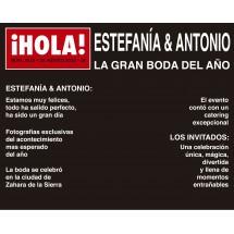 Photocall Boda Revista