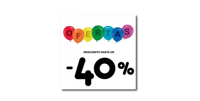 Cartel ofertas -40% globitos