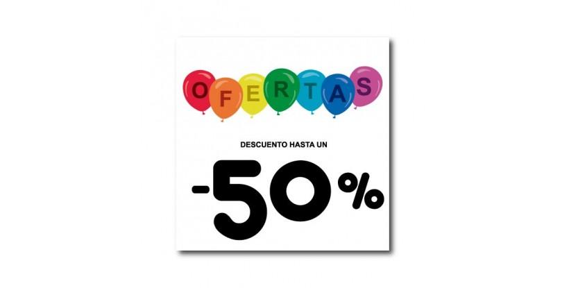 Cartel ofertas -50% globitos