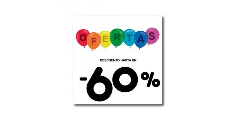Cartel ofertas -60% globitos