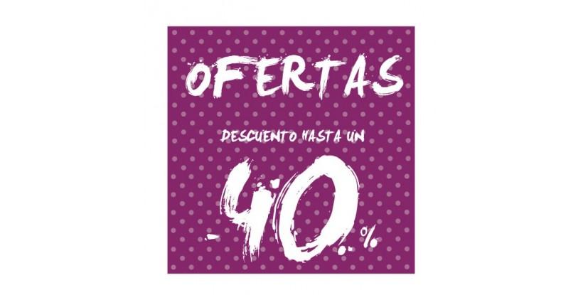 Cartel ofertas -40% puntitos