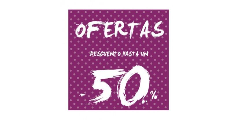 Cartel ofertas -50% puntitos