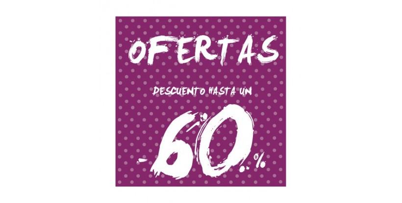 Cartel ofertas -60% puntitos