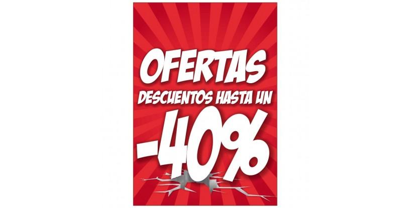 Letrero -40% de Descuento - Carteles de Rebajas Llamativos