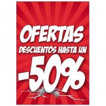 Cartel ofertas -50% Medi Market