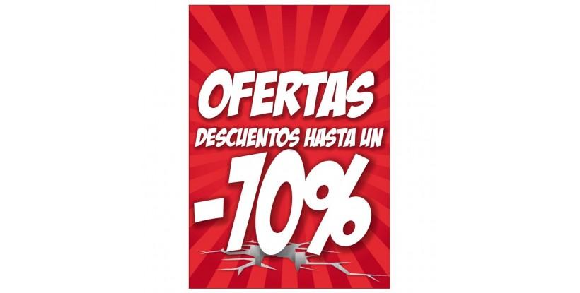 Cartel de Oferta -70% Medi Market