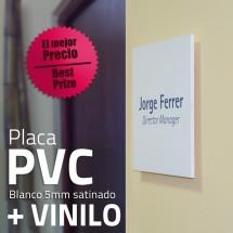Placa pvc + Vinilo