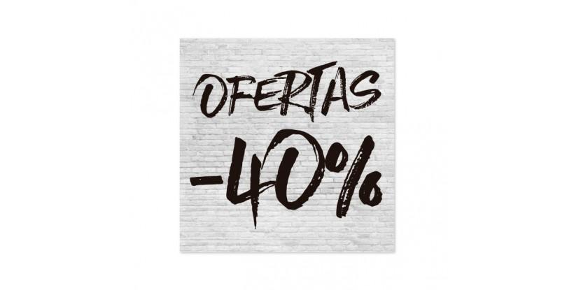 Cartel Ofertas 40% Ladrillo Blanco