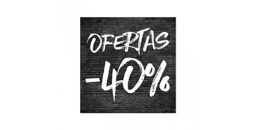 Cartel Ofertas 40% Ladrillo Negro