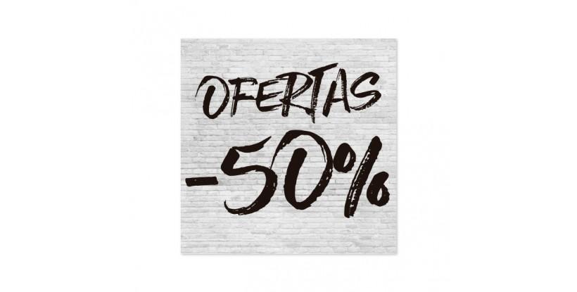 Cartel Ofertas 50% Ladrillo Blanco