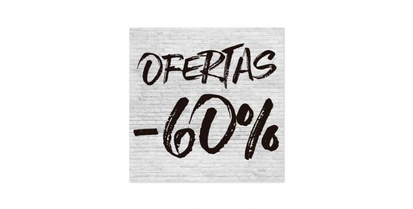 Cartel Ofertas 60% Ladrillo Blanco