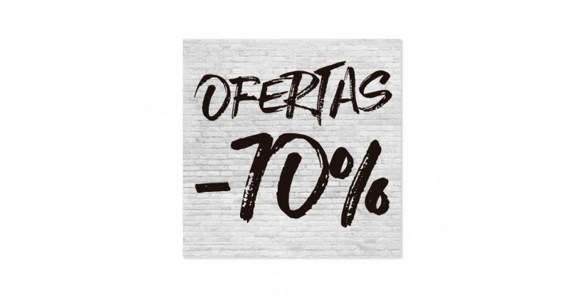 Cartel Ofertas 70% Ladrillo Blanco
