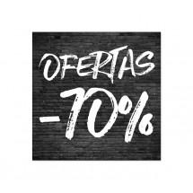 Cartel Ofertas 70% Ladrillo Negro