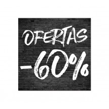 Cartel Ofertas 60% Ladrillo Negro