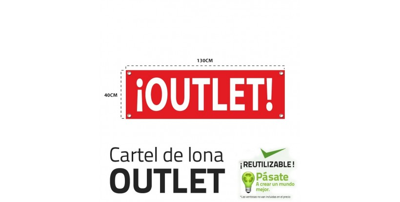 Cartel rebajas outlet horizontal