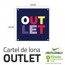 Cartel Rebajas Texto Outlet