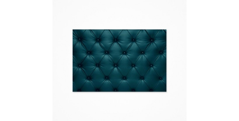 Fondo fotográfico tela capitone negro turquesa