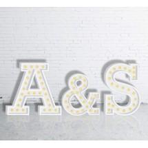 Letras Gigantes Boda con luz
