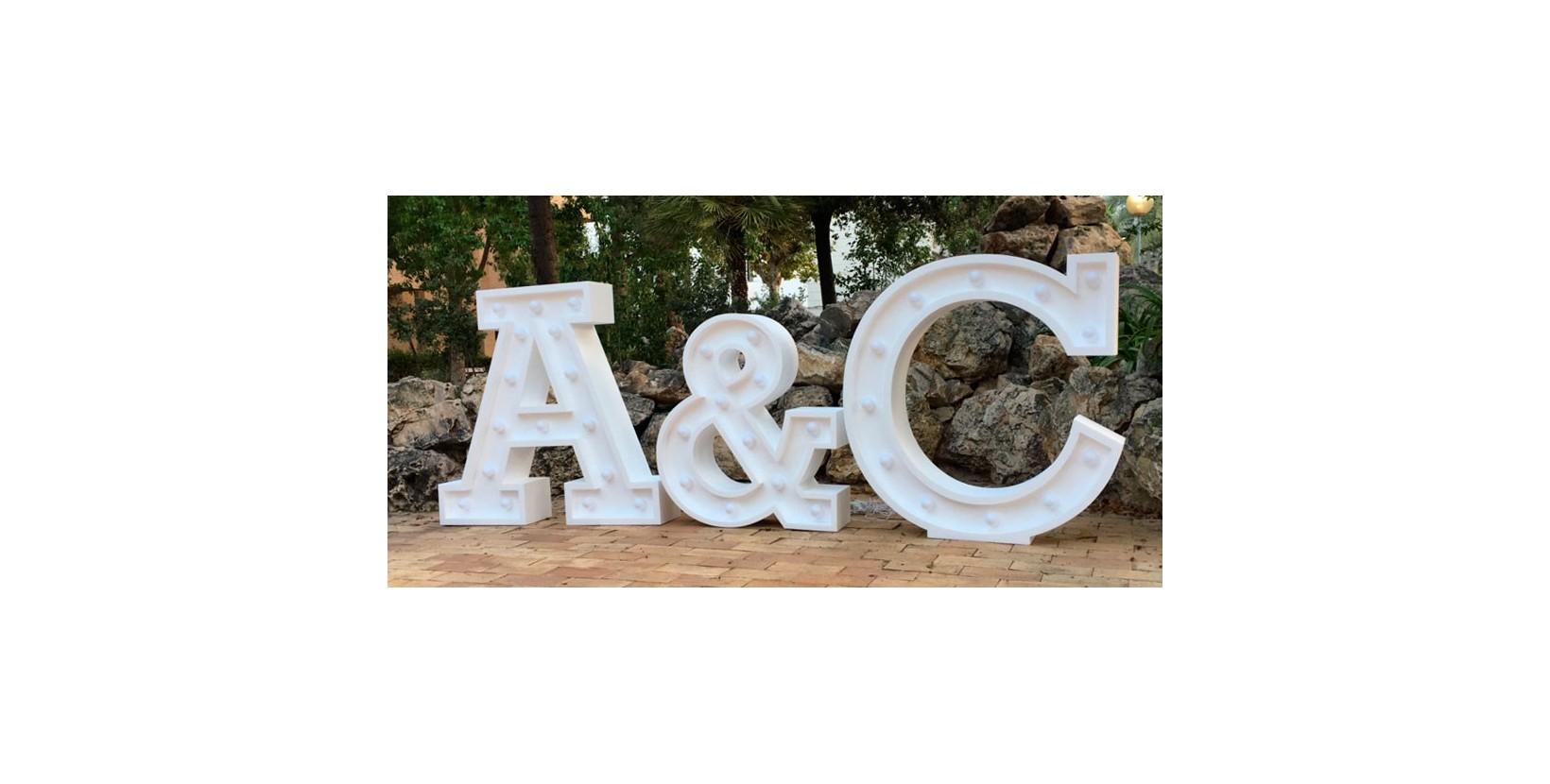 Letras gigantes boda con luz - Letras luminosas decoracion ...