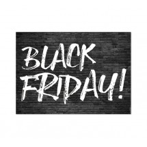 Cartel Black Friday Ladrillo Negro
