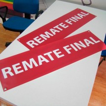 Cartel rebajas remate final