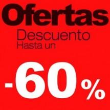 Cartel rebajas Ofertas -60%