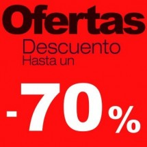 Cartel rebajas Ofertas -70%