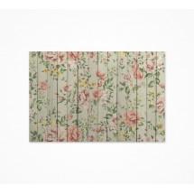 Fondo fotográfico madera flores tapiz
