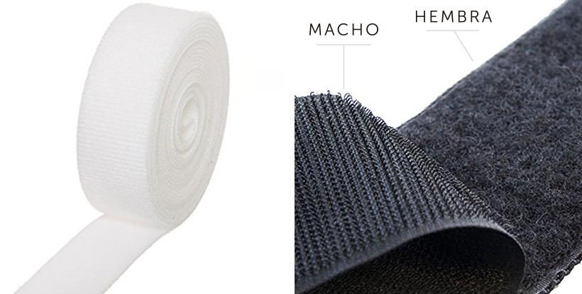 Velcro Adhesivo macho o hembra