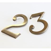 Números latón para edificio