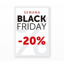 Cartel Black Friday 20% Blanco