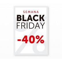 Cartel Black Friday 40% Blanco