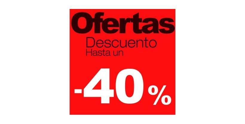 Cartel rebajas Ofertas -40%