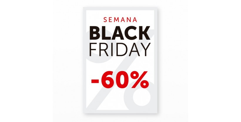 Cartel Black Friday 60% Blanco
