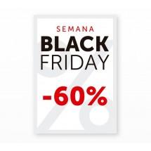 Cartel Black Friday 60% Blanco