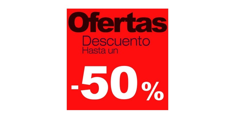 Cartel rebajas Ofertas -50%