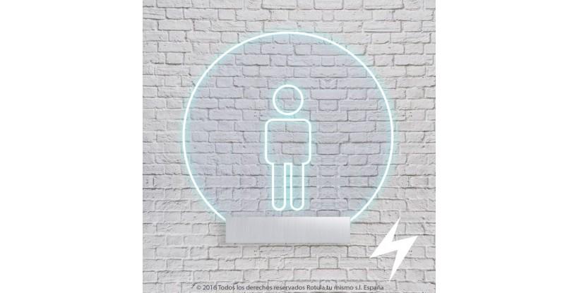 señalización baño luz filtrante redonda