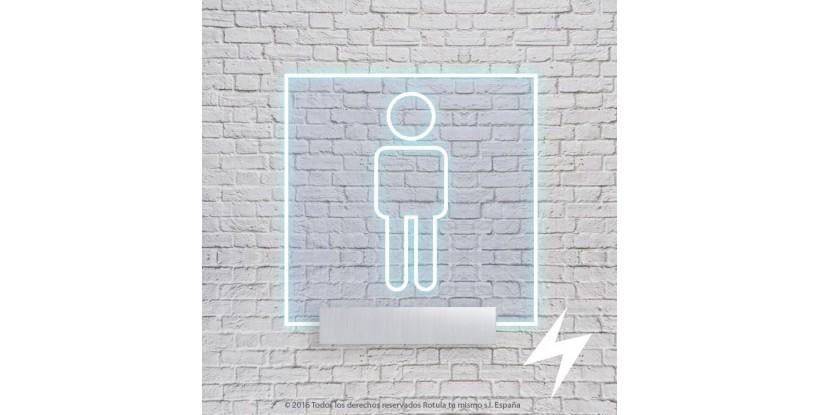 señalización baño luz filtrante cuadrada