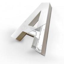 Letras corporeas huecas aluminio luz frontal