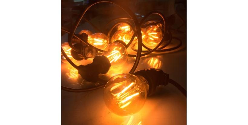 Guirnalda luces para boda