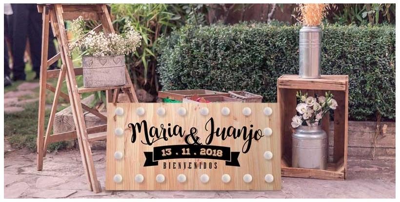 Cartel luces boda