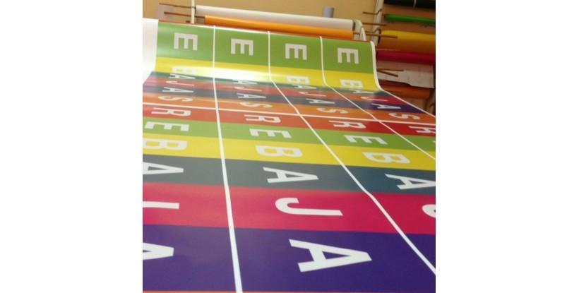 Cartel Rebajas Multicolor