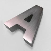 Letras de aluminio + metacrilato iluminado