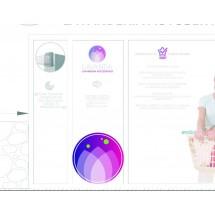circulo impreso con logo lavanda + corte circular (Pegado por dentro)