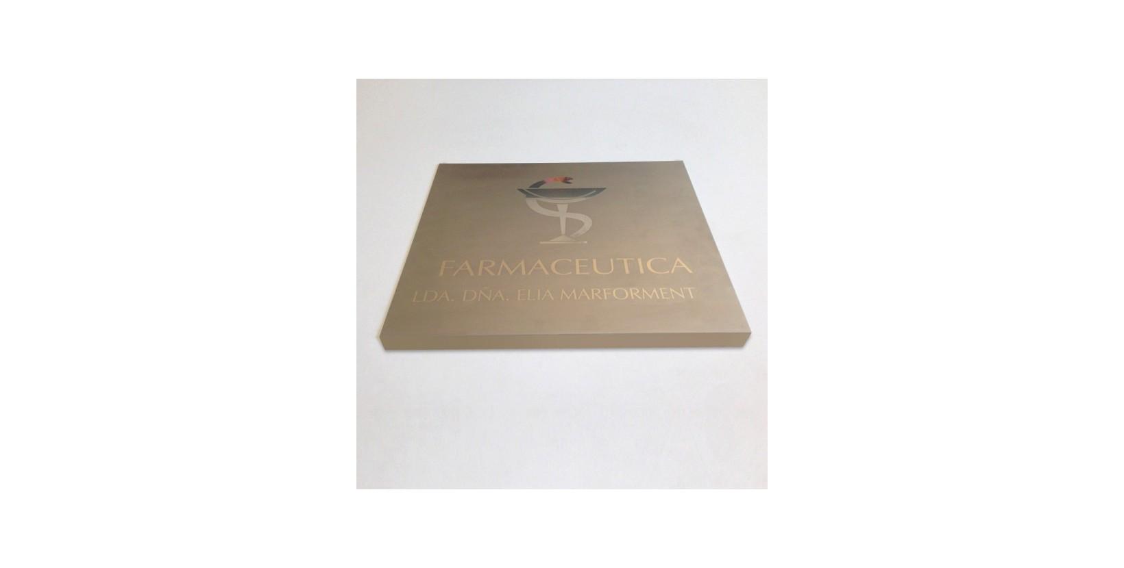 Placa de acero grabada placas grabadas de acero placa for Placa de acero
